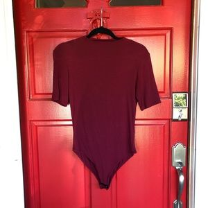 NWOT Forever 21 Red High Neck Sexy Bodysuit